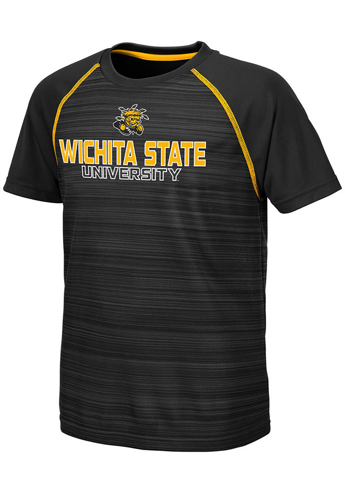 the best attitude c063a 42df1 Colosseum Wichita State Shockers Youth Black Buenos Aires Short Sleeve  T-Shirt