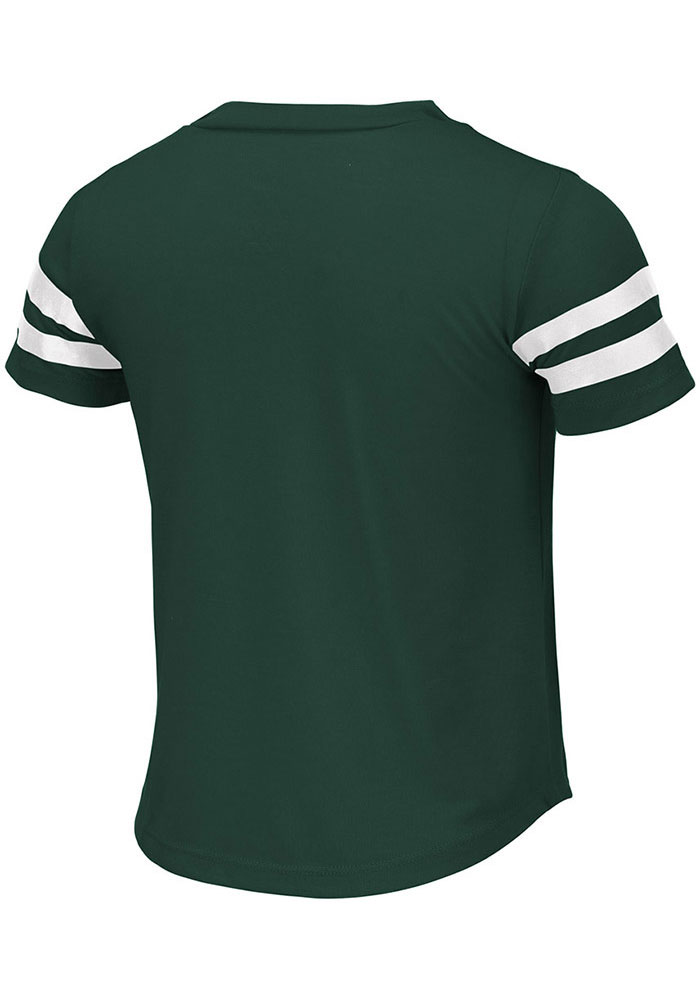 Colosseum Michigan State Spartans Girls Green Wels Short Sleeve Fashion T-Shirt - Image 2