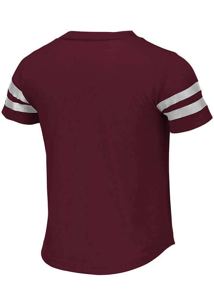 Colosseum Texas A&M Aggies Girls Maroon Wels Short Sleeve Fashion T-Shirt - Image 2