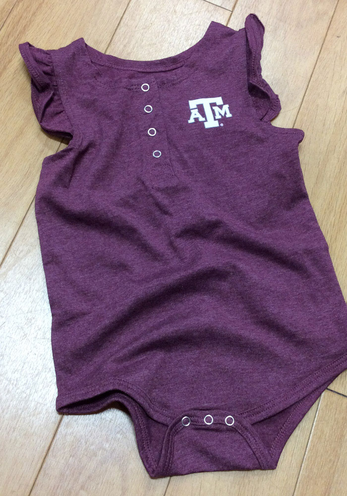 Colosseum Texas A&M Aggies Baby Maroon Kassel Short Sleeve One Piece - Image 3