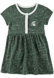 Colosseum Michigan State Spartans Baby Girls Green Nuess Short Sleeve Dress