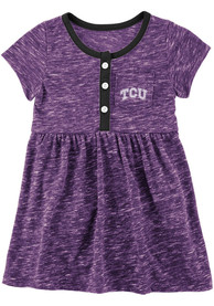 TCU Horned Frogs Baby Girls Colosseum Nuess Dress - Purple