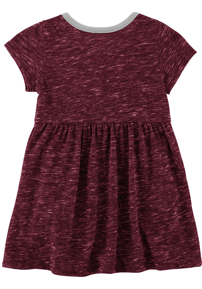 Colosseum Texas A&M Aggies Baby Girls Maroon Nuess Short Sleeve Dress - Image 2
