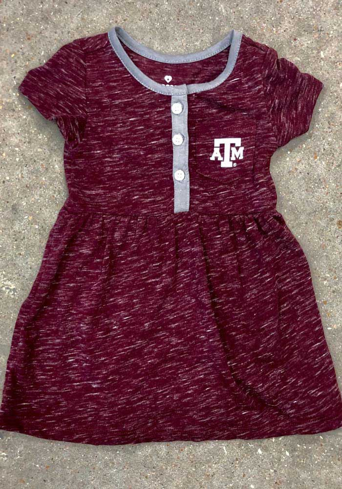 Colosseum Texas A&M Aggies Baby Girls Maroon Nuess Short Sleeve Dress - Image 3