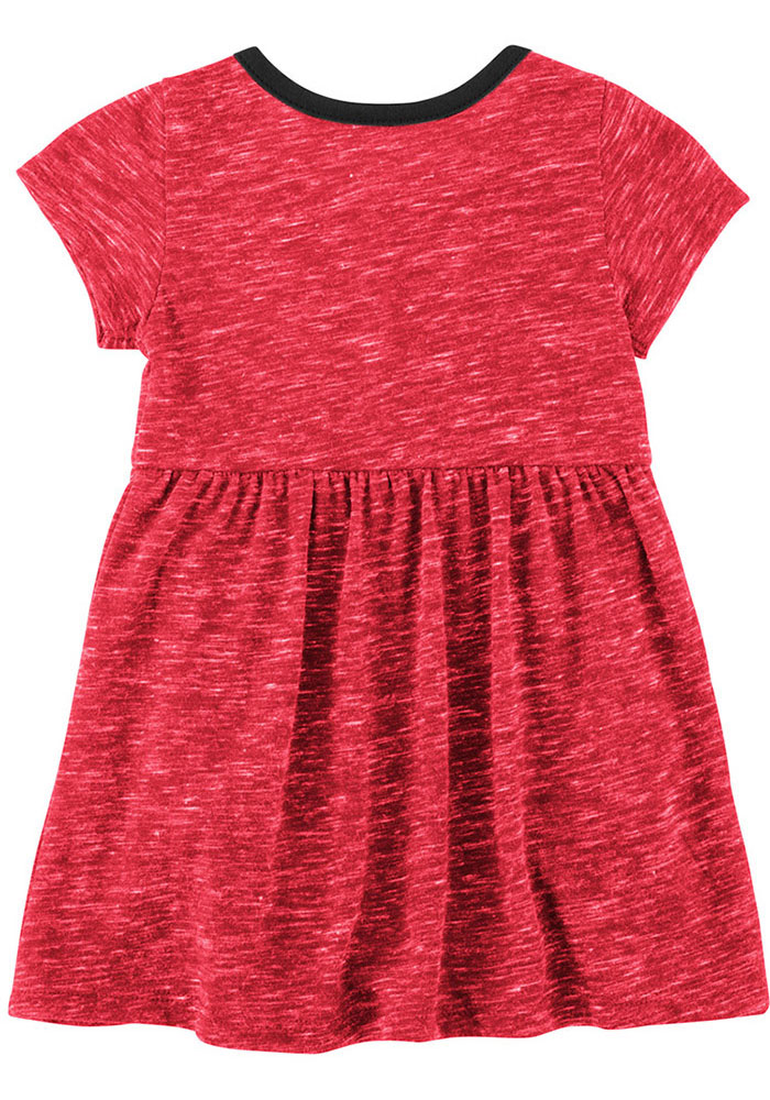 Colosseum Texas Tech Red Raiders Baby Girls Red Nuess Short Sleeve Dress - Image 2