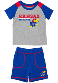 Kansas Jayhawks Infant Colosseum Brant Top and Bottom - Grey