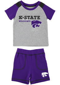 K-State Wildcats Infant Colosseum Brant Top and Bottom - Grey