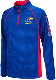 Kansas Jayhawks Youth Colosseum Mime Quarter Zip - Blue