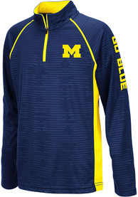 Michigan Wolverines Youth Colosseum Mime Quarter Zip - Navy Blue