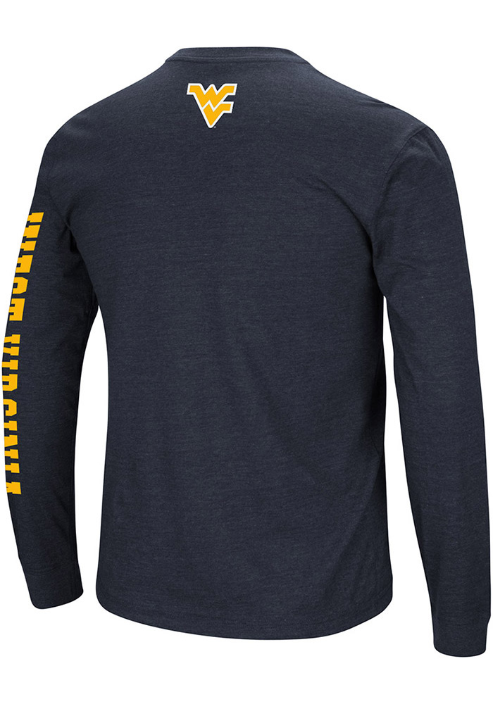 Colosseum West Virginia Mountaineers Navy Blue Jackson Long Sleeve T Shirt - Image 2