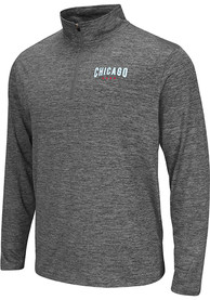 Colosseum Chicago Grey Wordmark Long Sleeve 1/4 Zip Pullover