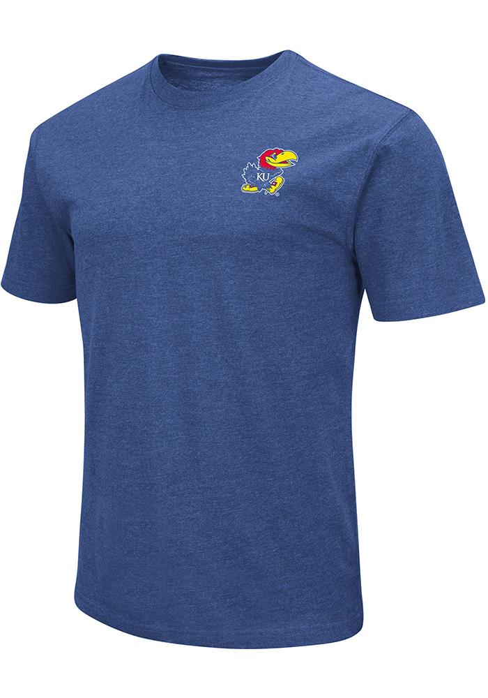Colosseum Kansas Jayhawks Blue College Town Short Sleeve T Shirt - Image 1