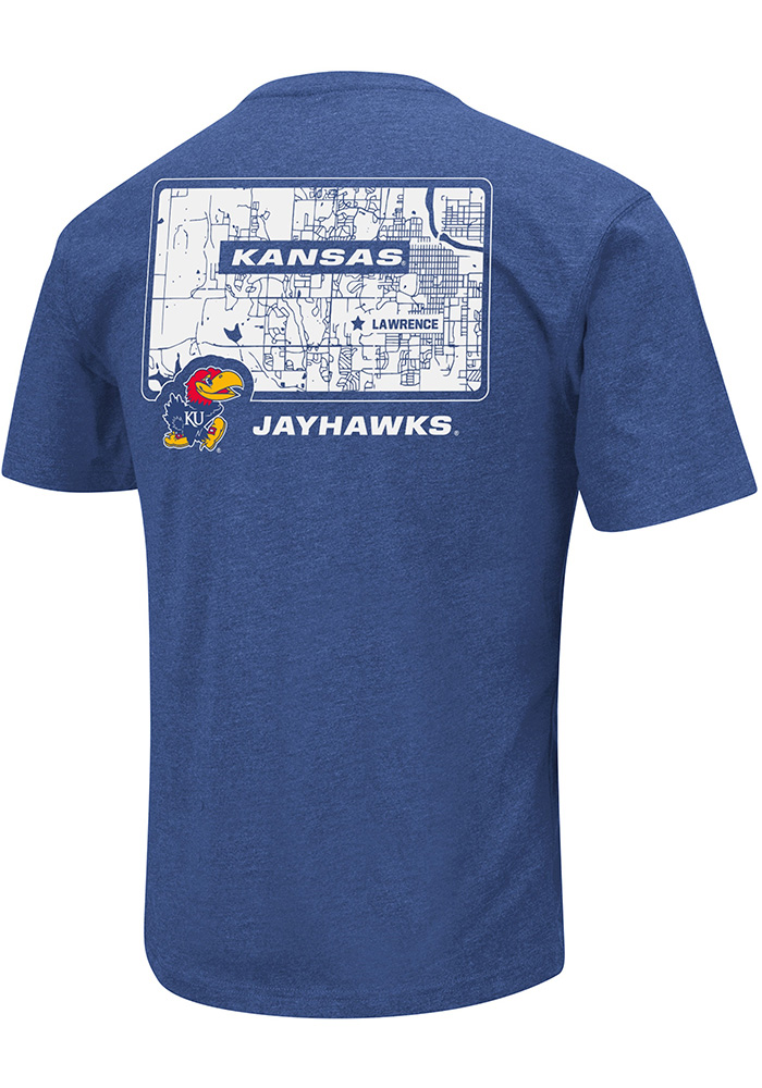 Colosseum Kansas Jayhawks Blue College Town Short Sleeve T Shirt - Image 2