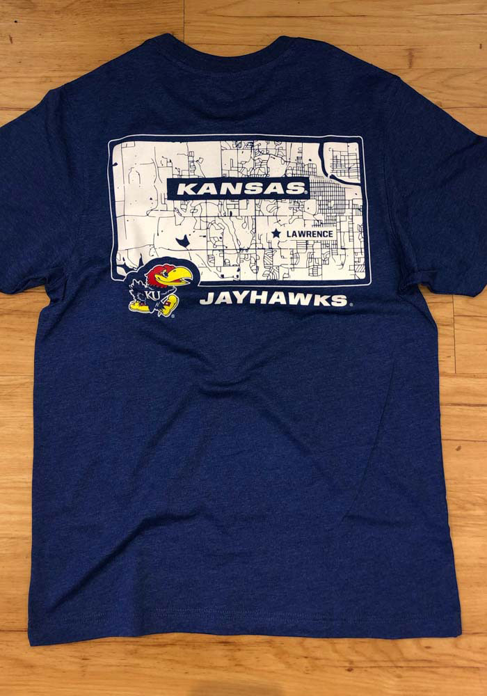 Colosseum Kansas Jayhawks Blue College Town Short Sleeve T Shirt - Image 3