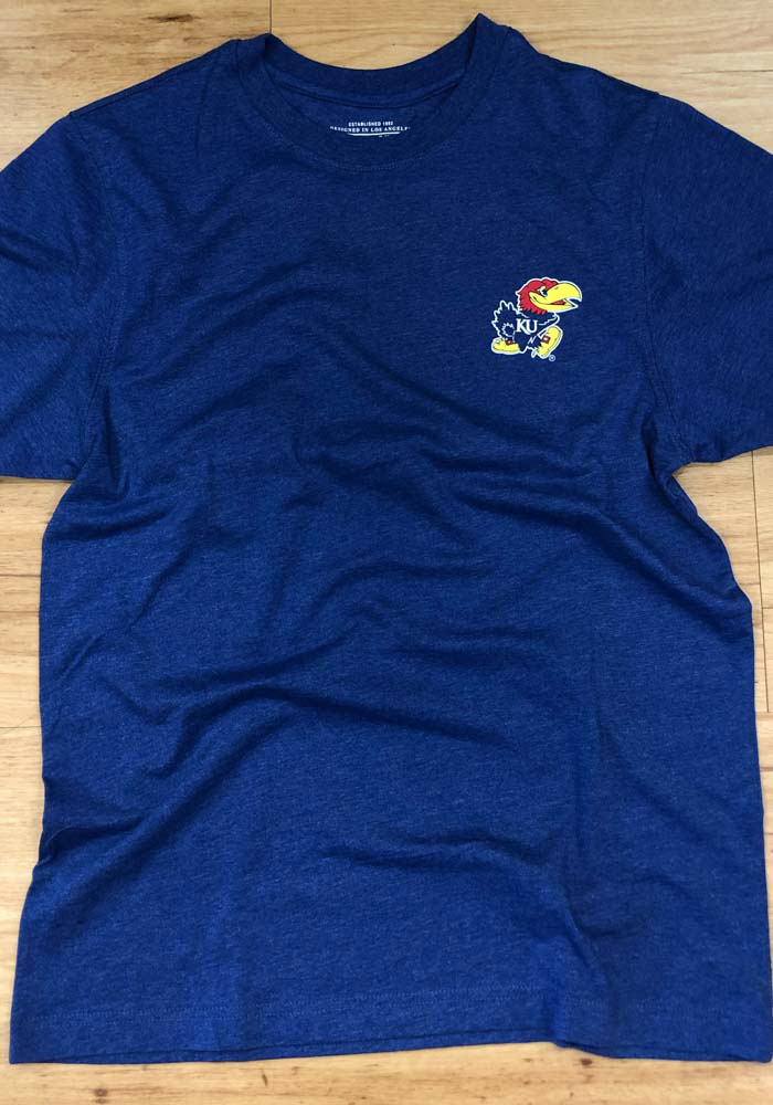 Colosseum Kansas Jayhawks Blue College Town Short Sleeve T Shirt - Image 4