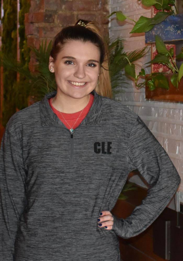 Colosseum Cleveland Grey CLE Long Sleeve 1/4 Zip Pullover - Image 3
