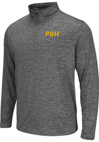 Colosseum Pittsburgh Mens Grey PGH Long Sleeve 1/4 Zip Pullover