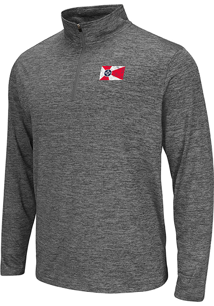 Colosseum Wichita Grey City Flag Long Sleeve 1/4 Zip Pullover - Image 1