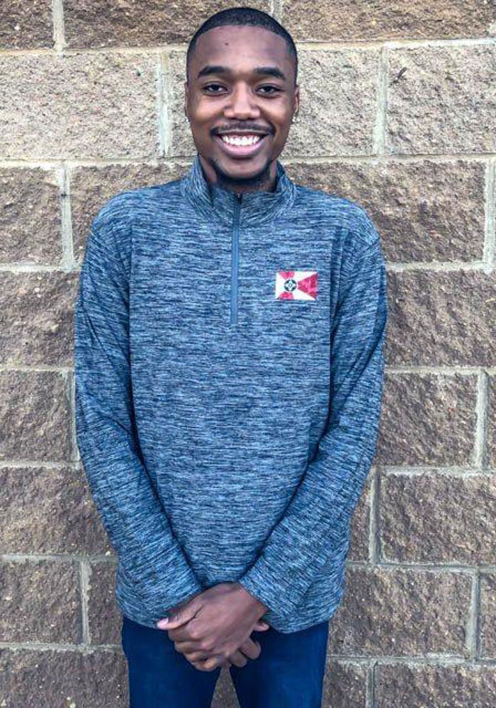 Colosseum Wichita Grey City Flag Long Sleeve 1/4 Zip Pullover - Image 2