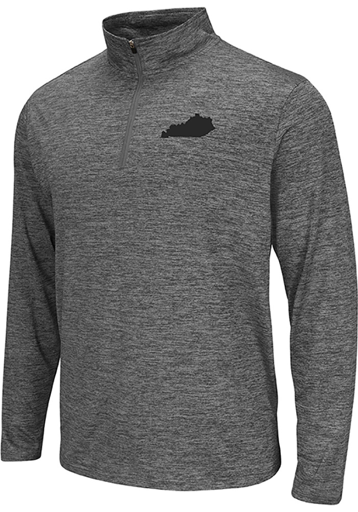 Colosseum Kentucky Grey State Shape Long Sleeve 1/4 Zip Pullover - Image 1