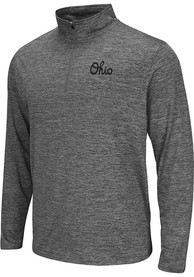 Colosseum Ohio Grey Script Long Sleeve 1/4 Zip Pullover