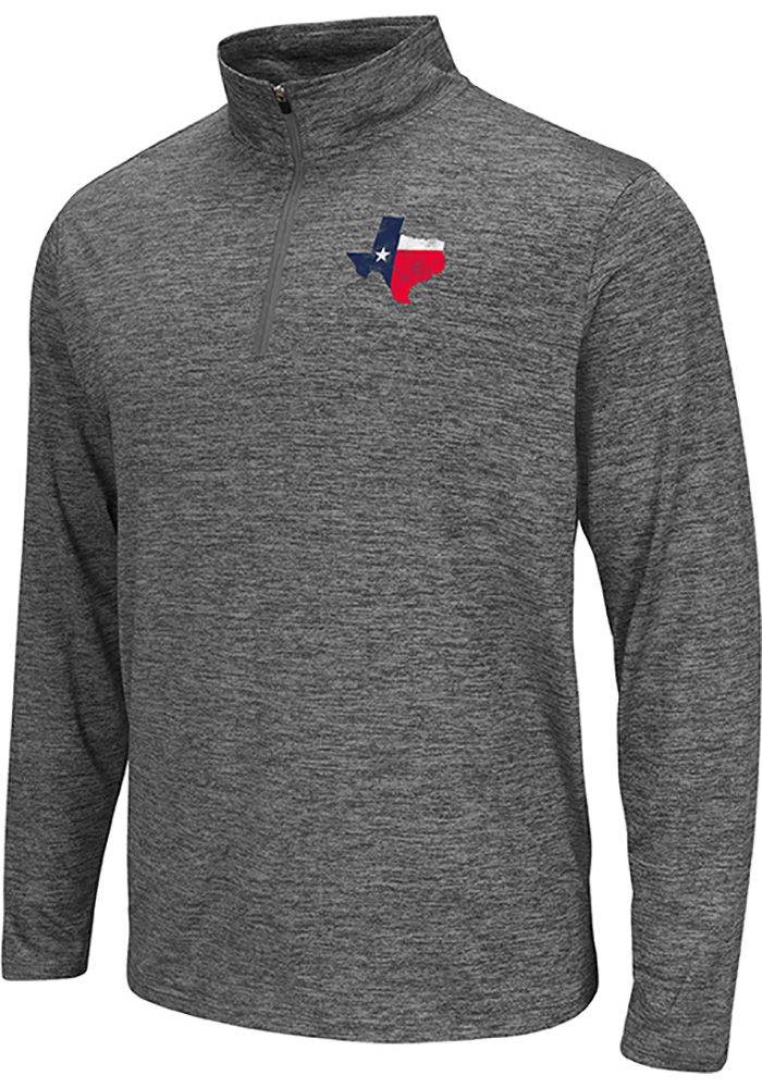 Colosseum Texas Grey State Flag Long Sleeve 1/4 Zip Pullover - Image 1