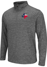 Colosseum Texas Grey State Flag Long Sleeve 1/4 Zip Pullover