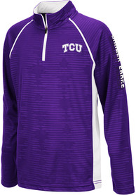 TCU Horned Frogs Youth Colosseum Mime Quarter Zip - Purple