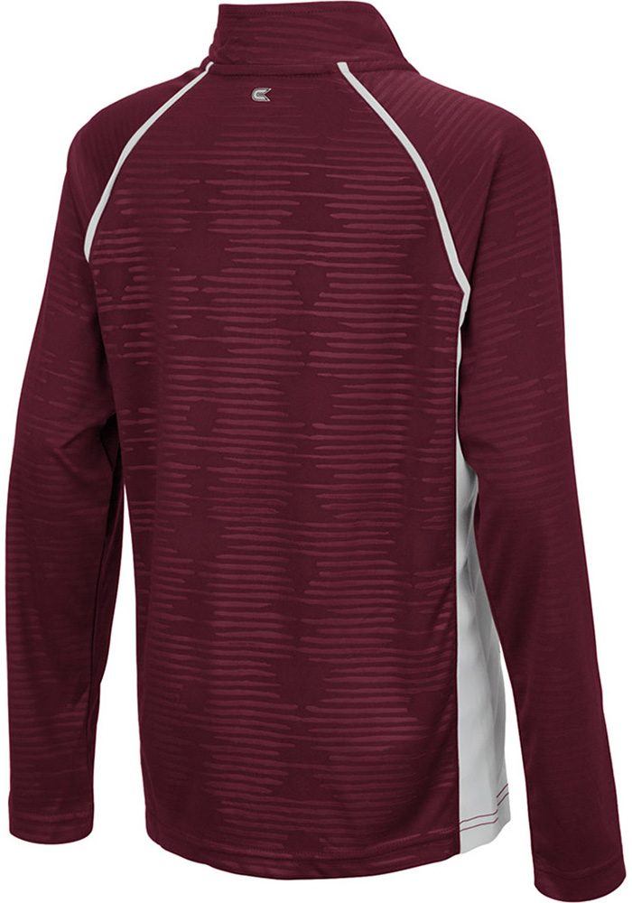 Colosseum Texas A&M Aggies Youth Maroon Mime Long Sleeve Quarter Zip Shirt - Image 2