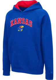 Kansas Jayhawks Youth Colosseum Pesto Hooded Sweatshirt - Blue