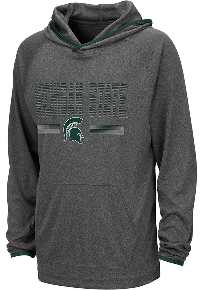 Colosseum Michigan State Spartans Youth Grey Narf Long Sleeve Hoodie - Image 1