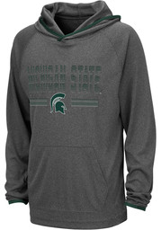 Colosseum Michigan State Spartans Youth Grey Narf Long Sleeve Hoodie