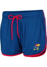 Kansas Jayhawks Womens Colosseum Toulon Shorts - Blue