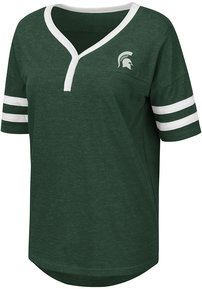 Colosseum Michigan State Spartans Womens Green Florence Short Sleeve T-Shirt - Image 1