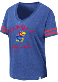 Kansas Jayhawks Womens Colosseum Savona T-Shirt - Blue