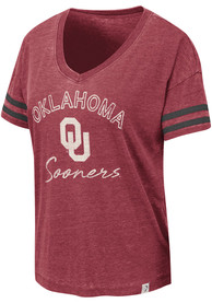 Oklahoma Sooners Womens Colosseum Savona T-Shirt - Crimson