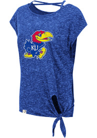 41af214b622 Colosseum Kansas Jayhawks Womens Blue Como T-Shirt