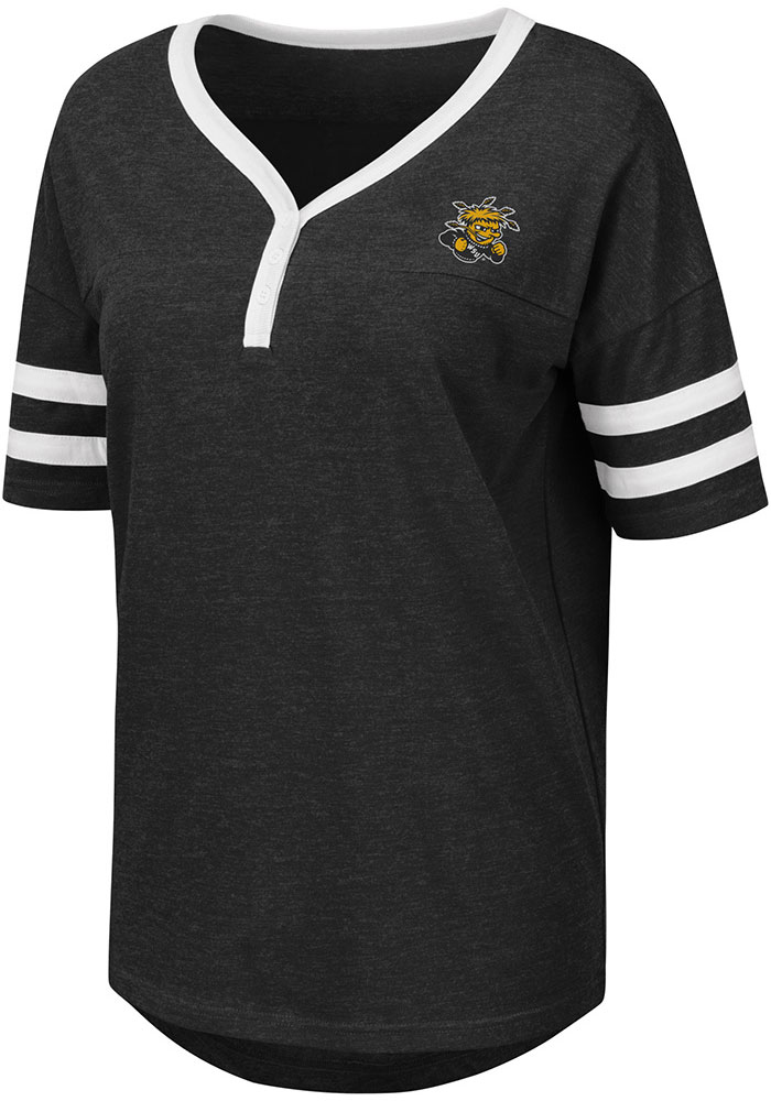 huge selection of 5931a a3001 Colosseum Wichita State Shockers Womens Black Florence Short Sleeve T-Shirt
