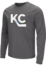 Kansas City Mavericks Colosseum KC Logo Fashion T Shirt - Grey