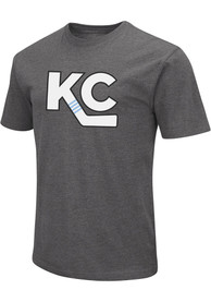 Kansas City Mavericks Colosseum KC Logo T Shirt - Grey