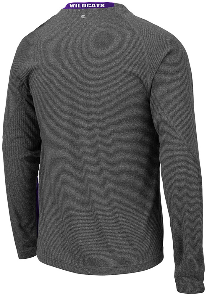 Colosseum K-State Wildcats Grey Brisbane Long Sleeve T-Shirt - Image 2