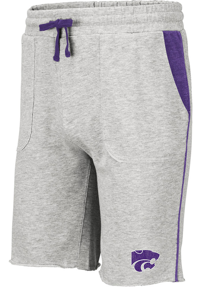 Colosseum K-State Wildcats Mens Grey Medellin Shorts - Image 1