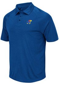 Kansas Jayhawks Colosseum Wellington Polo Shirt - Blue