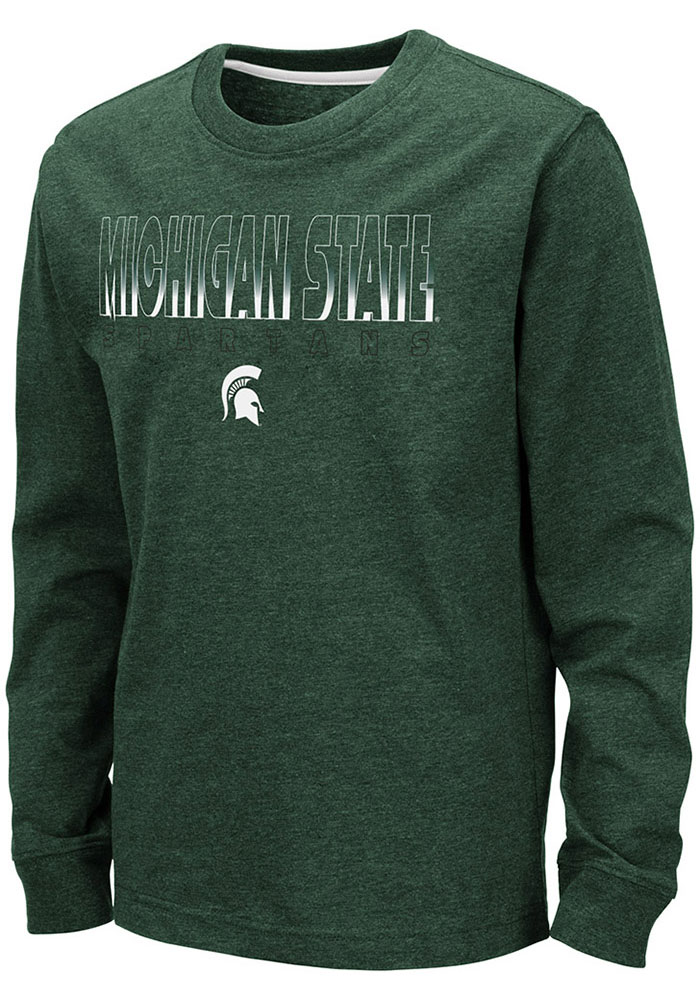 Colosseum Michigan State Spartans Youth Green Zort Long Sleeve T-Shirt - Image 1