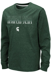 Colosseum Michigan State Spartans Youth Green Zort Long Sleeve T-Shirt