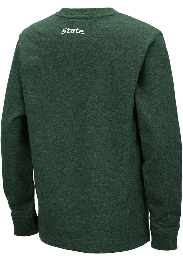 Colosseum Michigan State Spartans Youth Green Zort Long Sleeve T-Shirt - Image 2