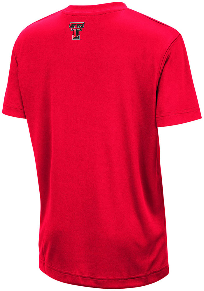 Colosseum Texas Tech Red Raiders Youth Red Skippy Short Sleeve T-Shirt - Image 2