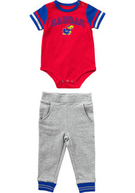 Kansas Jayhawks Infant Colosseum Flavio Top and Bottom - Red