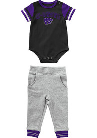 K-State Wildcats Infant Colosseum Flavio Top and Bottom - Grey