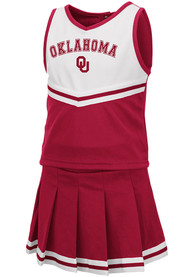 Oklahoma Sooners Toddler Girls Colosseum Pinky Cheer - Cardinal